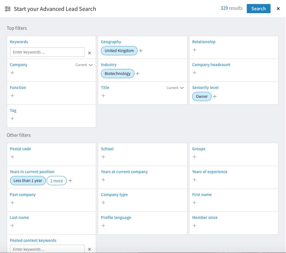 LinkedIn Search Lead Builder
